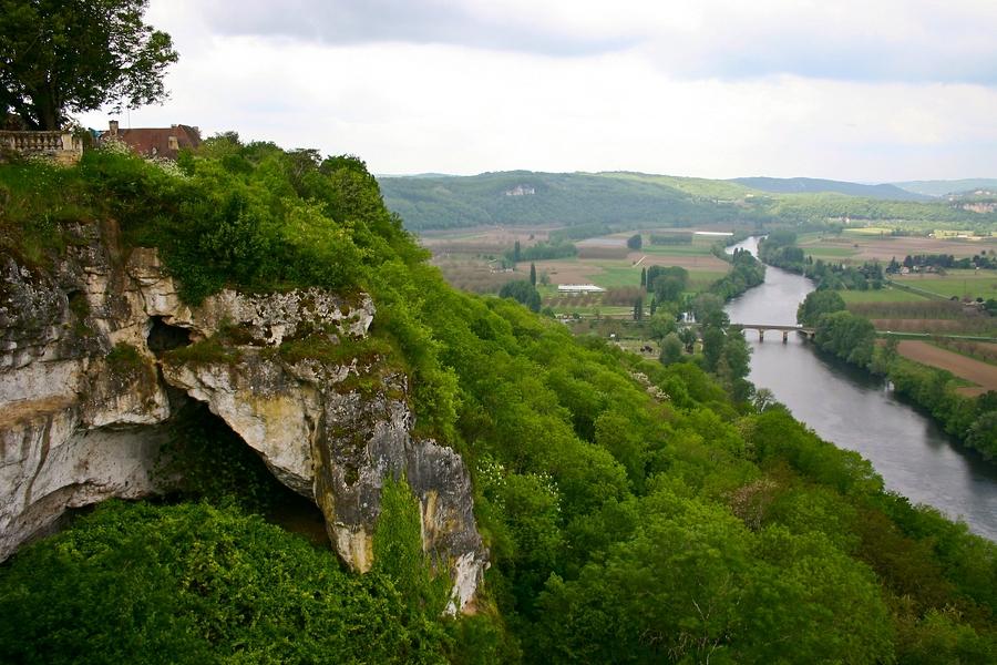 Domme - Panorama vom Belvedère de la Barre