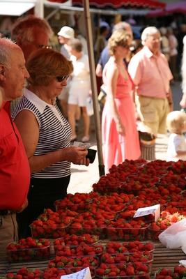 Erdbeeren auf dem Markt von Sarlat